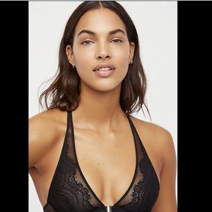 Free People Lace Underwire Front Close Bra 34B